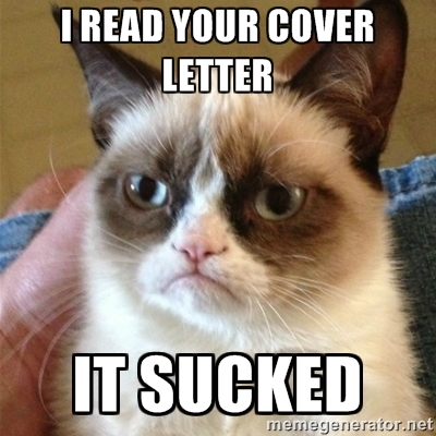 Image result for cover letter meme
